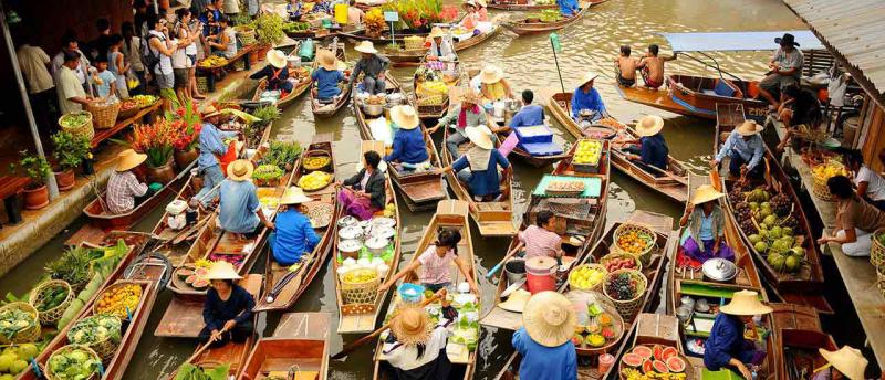 плавучий рынок тайланд
