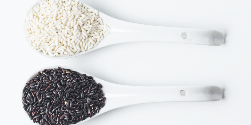Белый рис, черный рис, рис тайланд, тайский рис
