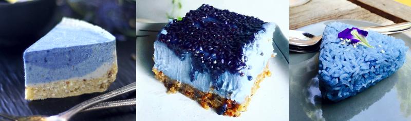 Еда из Клитории, синяя еда, синий чай