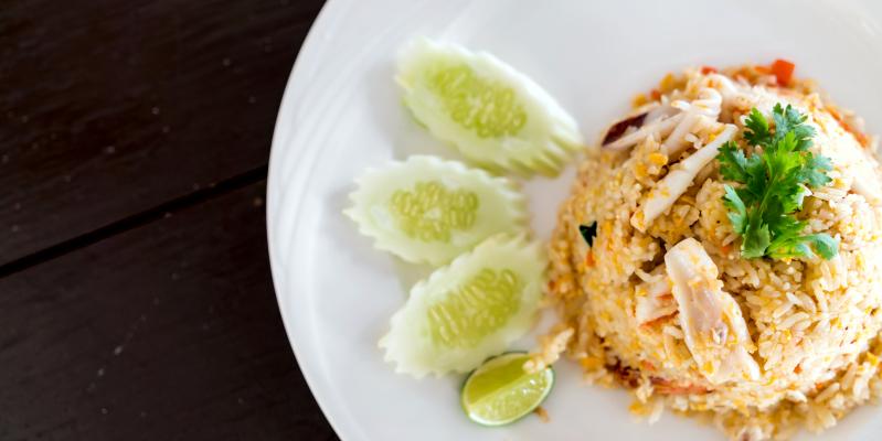 kao pad, као пад, жареный рис, рис таиланд, блюда Таиланда