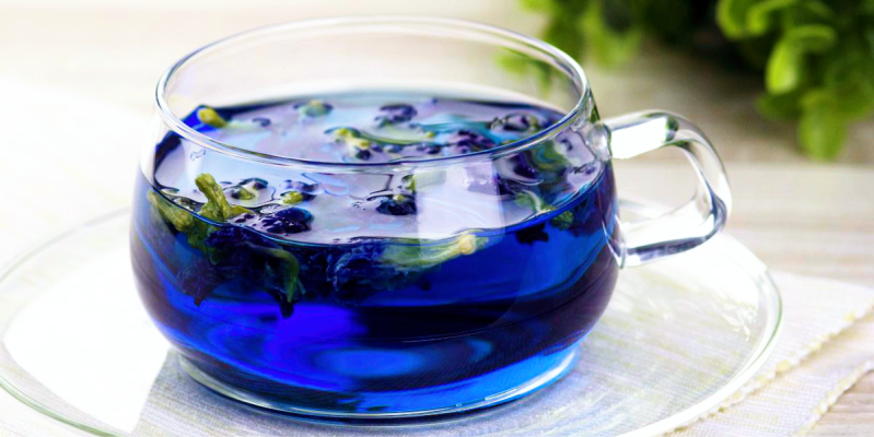 Синий чай, синий чай из тайланда, blue tea