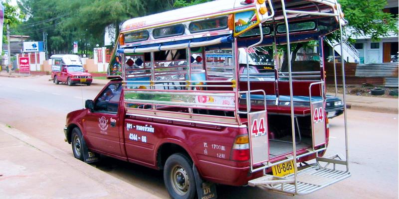 Тук тук в Тайланаде, тук тук таиланд, сонгтео, сонгтэо таиланд, транспорт тайланда