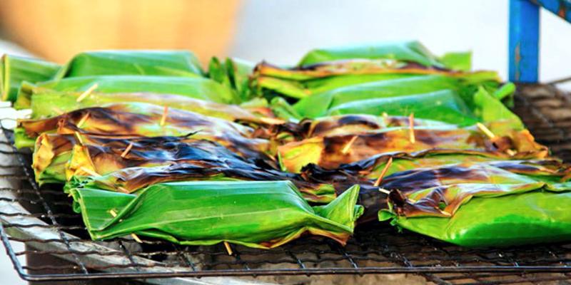 Кханом Бинг банановый десерт тайланд