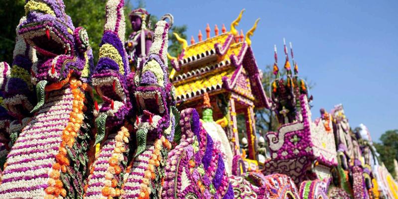Фестиваль цветов в Чиангмайе, фестиваль цветов Тайланд