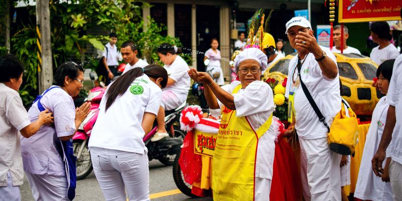 Вегетарианский фестиваль в Тайланде