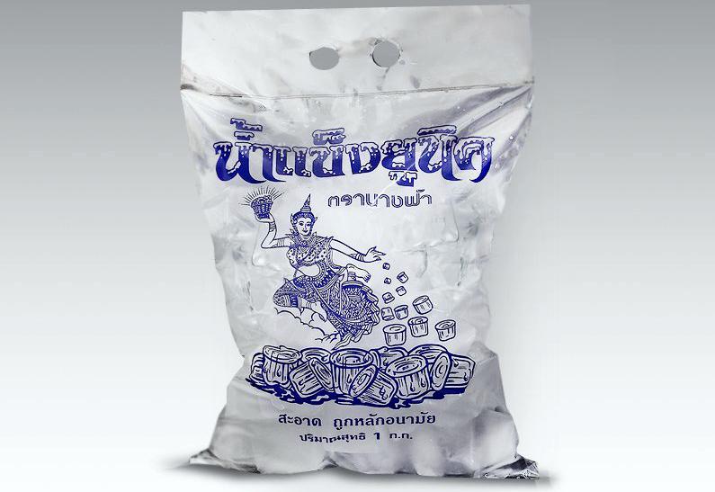 Тайский лед, лед в Тайланде, лед в пакете
