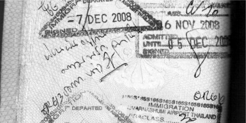 Паспорт, штамп, тайский штамп, оверстей