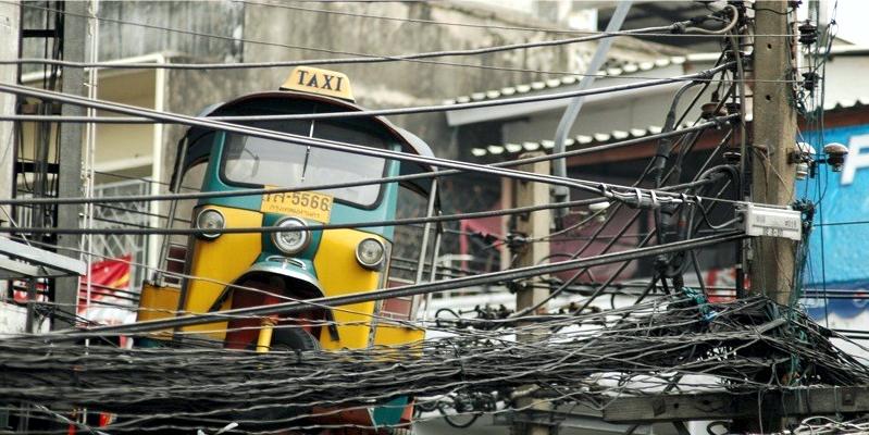 Такси Тайланд, такси Азия, провода