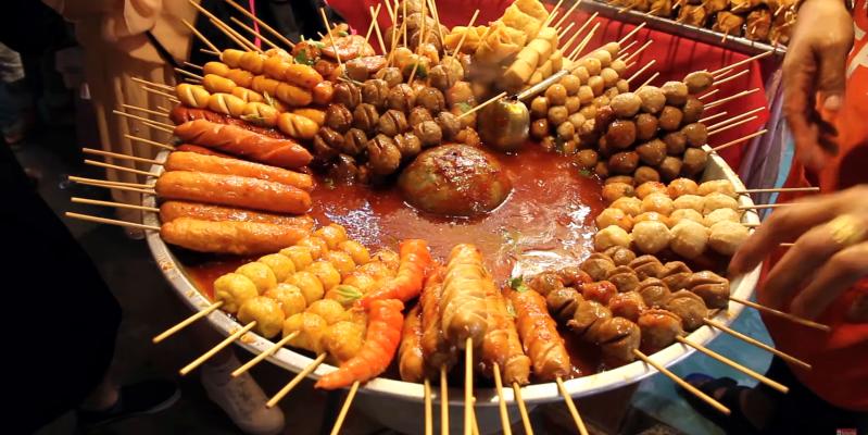 Уличная еда Тайланда, уличная еда в Тайланде, тайская уличная еда в макашнице