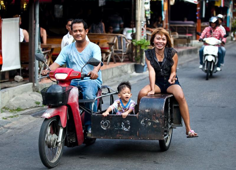 Мототакси в Таиланде, такси на байке Тайланд