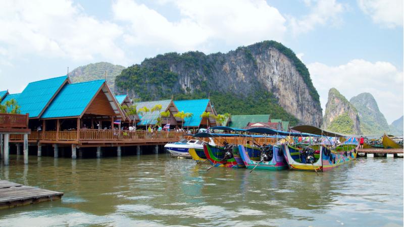 Ко панье, деревня морских цыган в заливе Пханг Нга в Таиланде