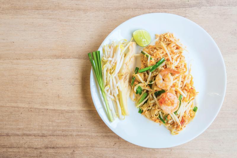 Pad Thai, Пад Тай тайская жареная рисовая лапша
